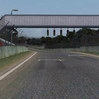 race track forrest park 3d model
