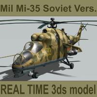 mil mi-35 soviet 3ds