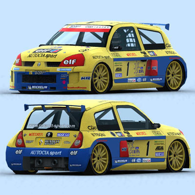 racing cars 2003 3d model