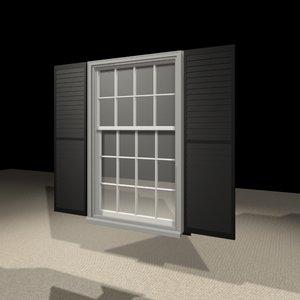 3456 window 3d model