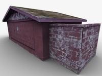 camp latrine 3d model