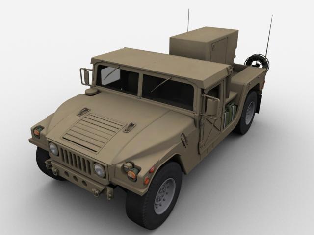 3d model hummer generator