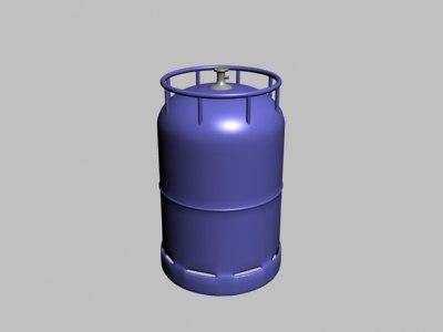 3ds max gas bottle