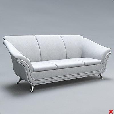 sofa 3d dxf