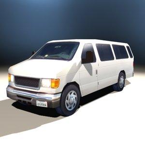 3d 15-passenger van model