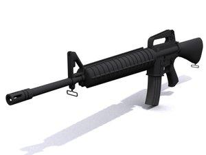 m16 assault rifle 3d model
