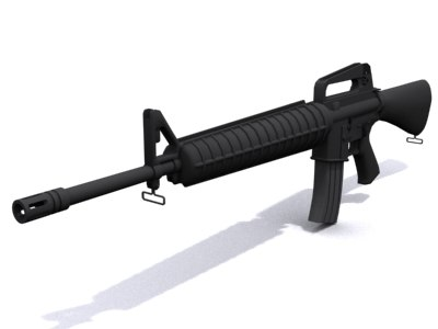 m16 assault rifle 3d model