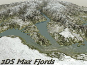 snowy mountains 3d model