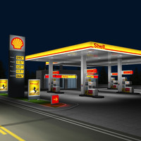 shell gas night
