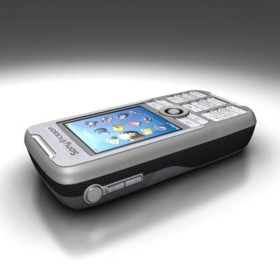 sonyericsson k700 cell phone 3d model