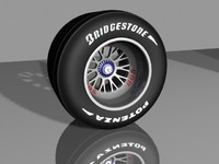 bbs f1 wheel tires 3d model
