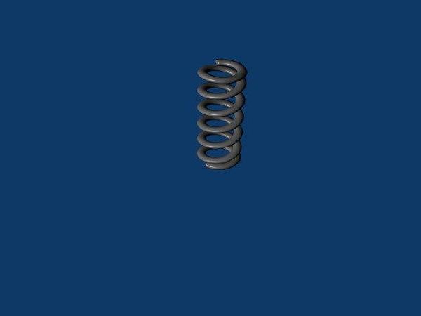 free spring valves shocks 3d model
