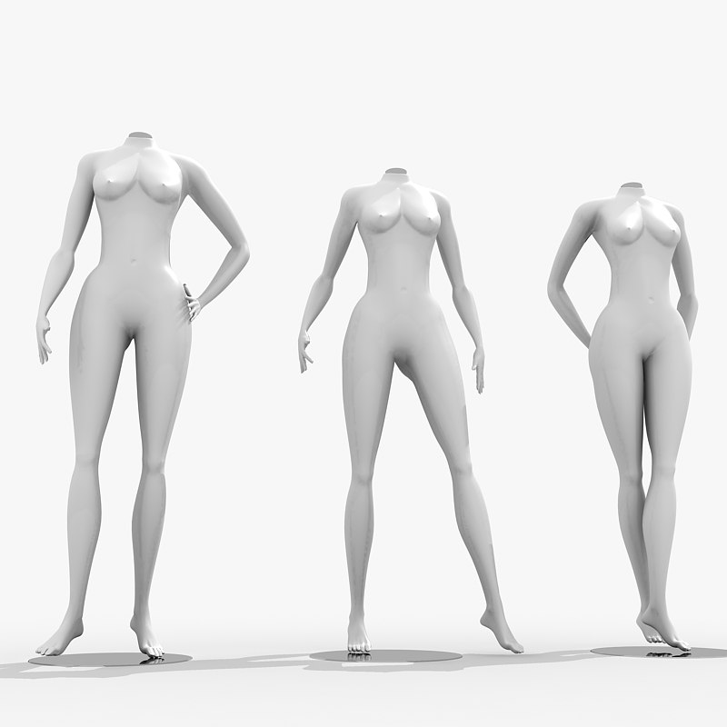 mannequin woman female 3d model