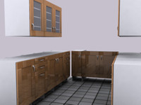 3d set kitchen cupboards model