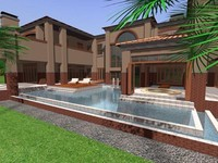 3ds max mansion tuscan style