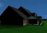 ranch house 3d model
