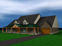 ranch house 3d model