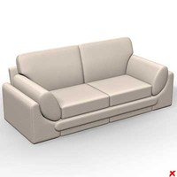 3d sofa loveseat