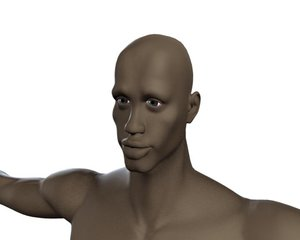 3d african male