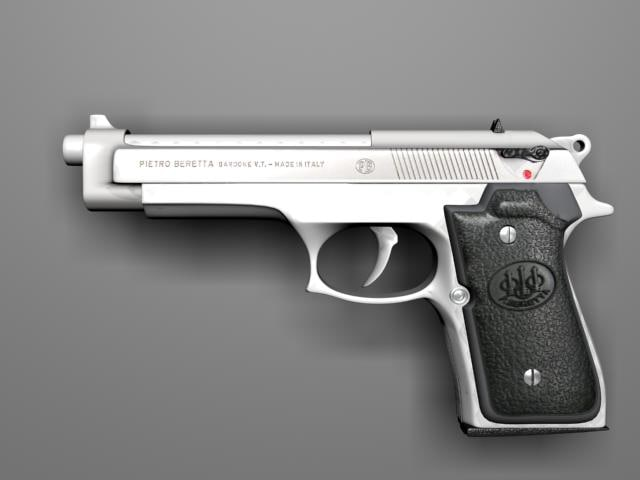 3d beretta 9mm pistol model