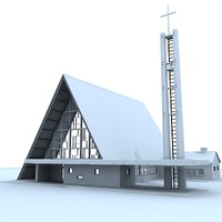 modern church building max