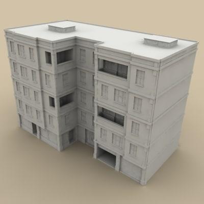 city building 1 3d model