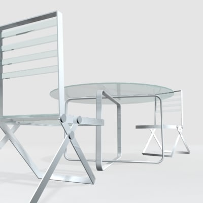 3d model outdoor table chair