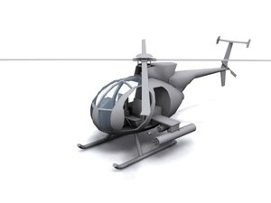 mh-6 little bird attack helicopter 3d 3ds
