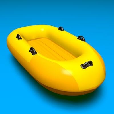 river raft 3d max