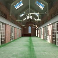 old jail 3d model