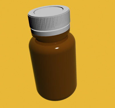 3d drug bottle