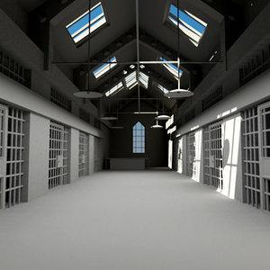 3d model old jail
