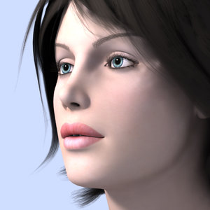 woman female girl 3d model