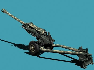 howitzer m119 3d model