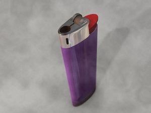 3d model lighter cigarette