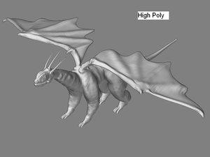 3d model dragon polys games