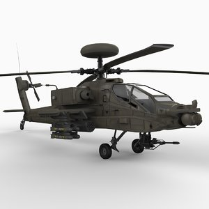 ah-64 d attack helicopter 3d model