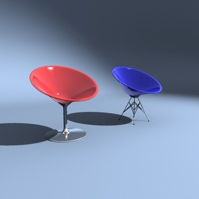 3d starck ero s chairs model