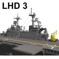 3d model lhd 3 ship