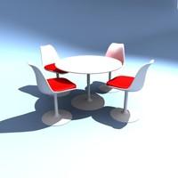 Eero Saarinen Tulip chairs and table