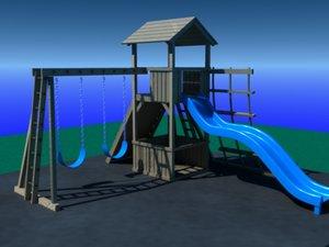 childern swing set play 3d model