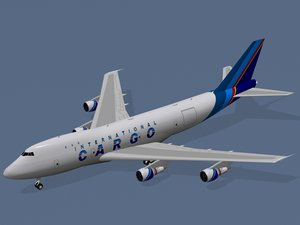 b international cargo 3d obj
