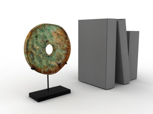 ancient disc bronze 3d max