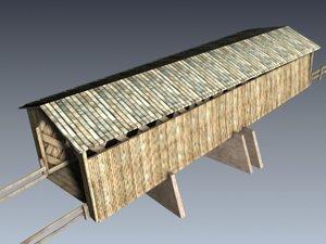 covered bridge 3d max