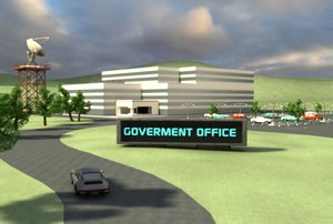3d model office building goverment company