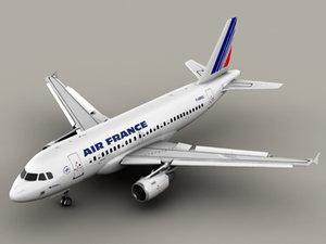 airbus a319 air france 3d model