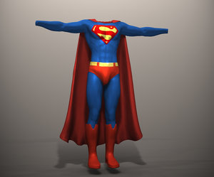 superman movie 3d model