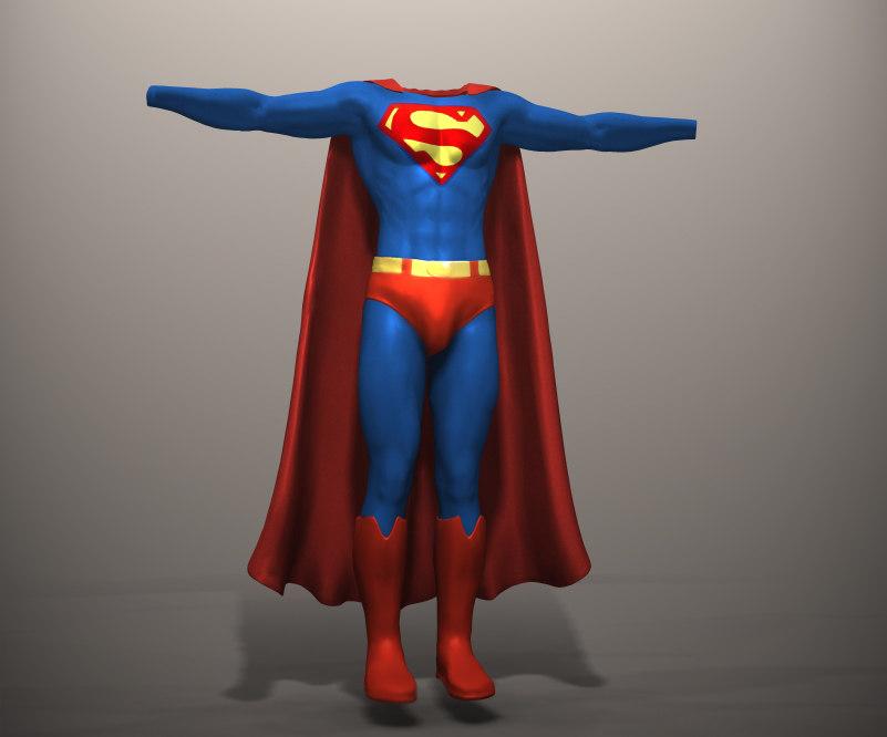Superman Movie 3d Model