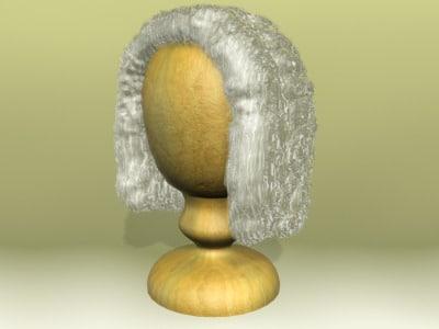 wooden peruke 3d model