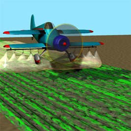 3d model spray unit crop duster